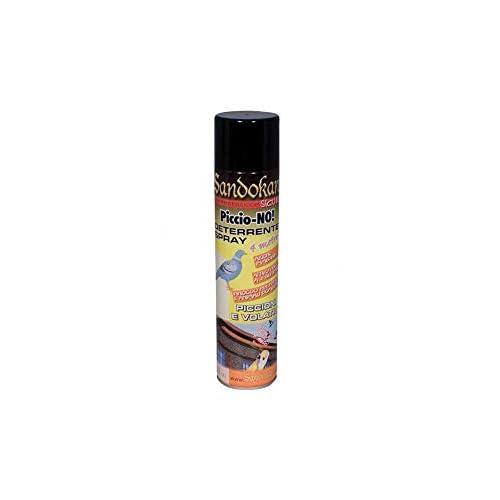 Sandokan P7680 Repellente Piccioni, Nero e Arancio