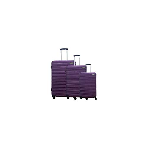 MANOUKIAN Set de 3 Valises Rigide Polycarbonate 4 Roues 48-60-70 cm Purple