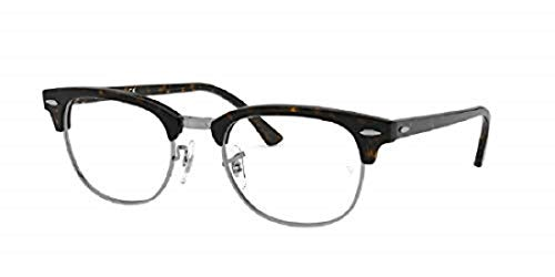 Ray-Ban Brillen Gafas de Vista CLUBMASTER RX 5154 DARK HAVANA BLACK 49/21/140 Unisex
