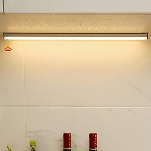 Lámpara de noche LED Interruptor de sensor de barrido manual Atenuación Carga USB Luces debajo del gabinete Sala de estar Dormitorio Armario Cocina Iluminación-Warm_Light_20_CM