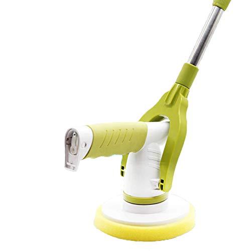 Felaaca Elektrischer Rotationsmopp, wiederaufladbarer Power Cordless Scrubber-Fliesen- und Badewannenwäscher mit 5 Reinigungsbürstenköpfen