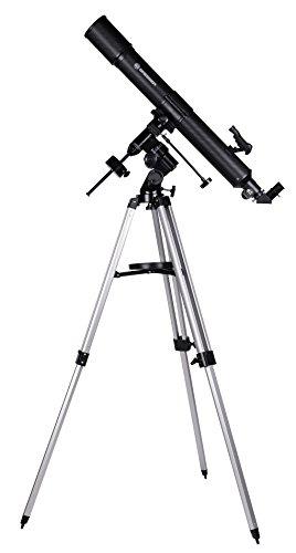 Bresser Refraktor Teleskop Quasar EQ 80/900 mit Smartphone Kamera Adapter und hochwertigem Objektiv-Sonnenfilter, inklusive Montierung, Stativ und Zubehör