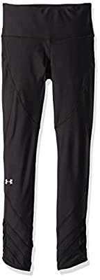 Under Armour Women's Heatgear Fashion Ankle Crop 9/1, Black (001)/Metallic Silver, Small