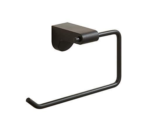 LXYZ Baño Negro Pintura de Goma Simple sin Cubierta Toallero de Papel Toallero de Papel de baño Hardware Colgante