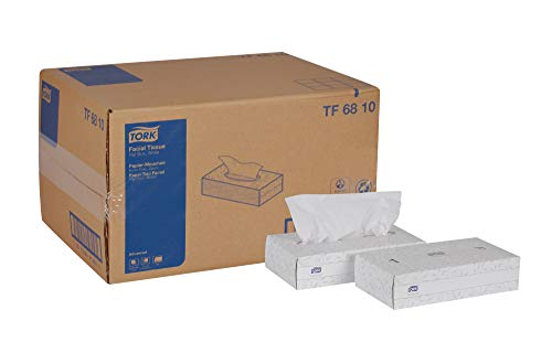 Tork Advanced TF6810 Facial Tissue Flat Box 2Ply 82quot Width x 79quot Length White Case of 30 Boxes 100 per Box 3000 Sheets