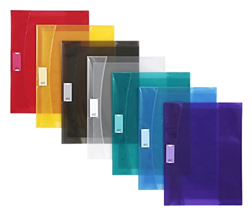 Viquel - Set di 50 copertine per quaderni, 24 x 32 cm, trasparenti, con alette per quaderno 24 x 32 cm, colore: Trasparente