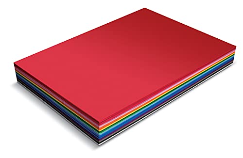 20 Pack EVA Foam Sheets, Extra Large Sheet Size, 12 x 17.5 Inch, Assorted Colors (20 Colors), 2mm Thick, by Better Office Products, for Arts and Crafts, 20 Sheets
