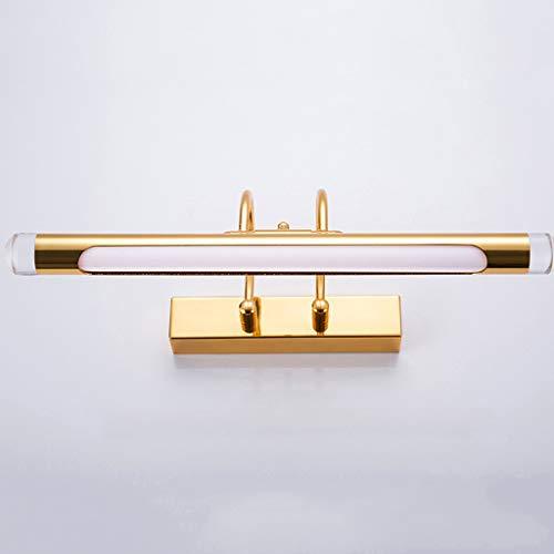 TYXHZL kastlicht, LED-spiegel, koplamplicht, goud, spiegelkast, lamp, wandlamp, badkamer, studeerkamer, eenvoudige waterdicht, anti-condens vochtigheid, B