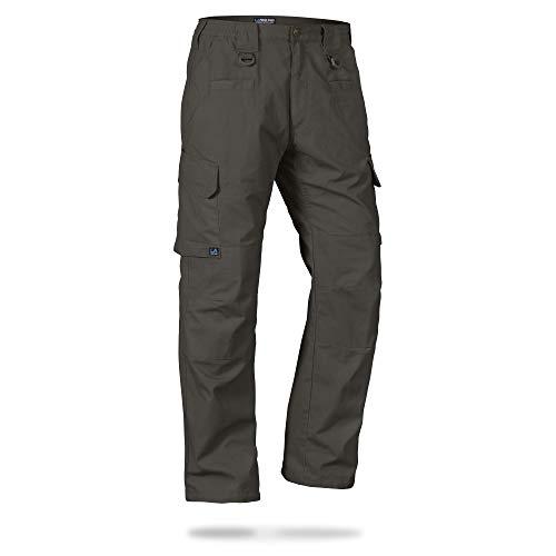 La Policía Gear Operador táctica Pantalones con Cintura elástica - Marrón -