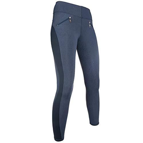 HKM - Reitsport-Hosen für Damen in 6100 Jeansblau, Größe 32W / 34L