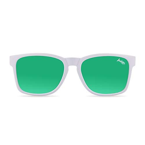 The Indian Face Gafas de Sol Deportivas Free Spirit para Hombre y Mujer, Color Blanco Lente Verde