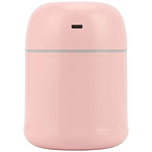 Hztyyier Mini humidificador de Aire de 220 ml, humidificador de Aire Rosa, difusor de aromaterapia de Escritorio, luz USB, Fabricante de Niebla portátil