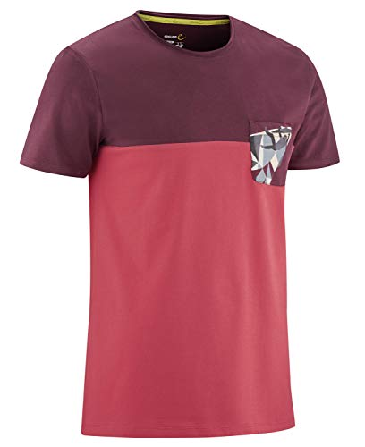 EDELRID Nofoot Camiseta, Hombre, Color Rojo, Extra-Large