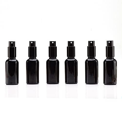 Yizhao Negro Pulverizador Cristal 30ml, Glass Spray Bottles con [Atomizador],para Aceites Esenciales,...