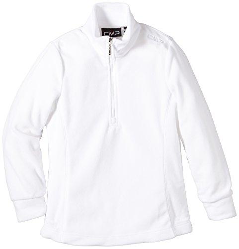 CMP, Felpa in pile Bambina a collo alto con zip, Bianco (Bianco), 140 cm, Bianco, 140