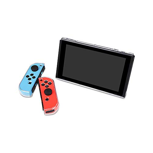 Capa protetora Docooler para Switch Dockable Cover para Nintendo Switch com design de divisão transparente, capa rígida antichoque, proteção total BUBM