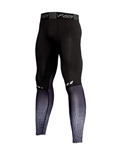 Muscle Alive Herren Yoga Kompressionsunterwäsche Leggings Strumpfhose Trainieren Hosen Fitnesshose Grundschicht Kühl trocknen