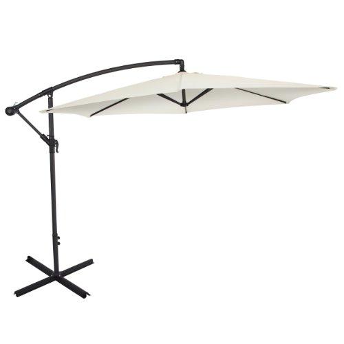 Ultranatura Parasol excéntrico, con manivela, apto como parasol para el jardín o sombrilla, muy grande y estable, beige