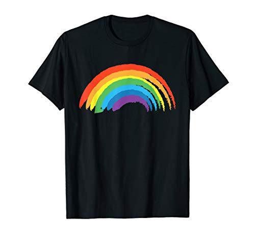 Regenbogen mit schönen bunten Farben - Retro Vintage T-Shirt