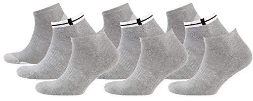 Nur Der Herren Sport Sneaker 9er Pack, Grau (melange), 39-42