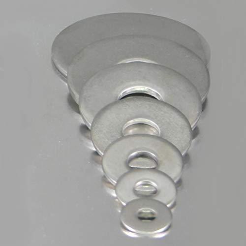 100 Stück rostfreie Edelstahl V2A Unterlegscheiben DIN 9021 6,4 (M6)