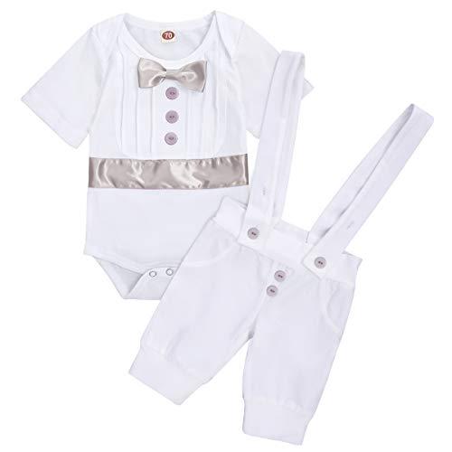 Traje de bautizo para bebé, de manga larga, con pajarita, pelele y...