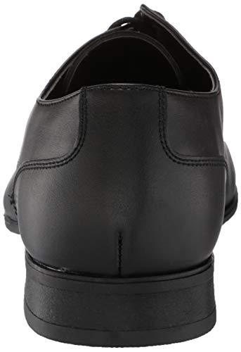Calvin Klein Men's Brodie Oxford Shoe, Black Burnished Dress Calf, 11.5 Medium US Colorado