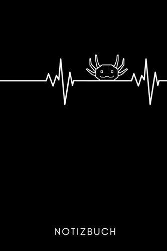 NOTIZBUCH: A5 Notizbuch LINIERT Geschenk für Axolotl Fans Besitzer | Buch | Amphibien | Aquarium | Haustierbesitzer | Terrarien | Geschenkidee für Kinder