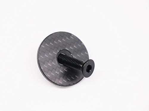 A-Head Carbon Vorbau Steuersatz Kappe 1 1/8 Zoll mit Titanschraube Glossy (Matt)
