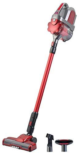 Sichler Haushaltsgeräte Accu Staubsauger: 2in1-Akku-Zyklon-Staubsauger mit elektrischer Bürste, 2 Modi, 21,6 V (Staubsauger kabellos)