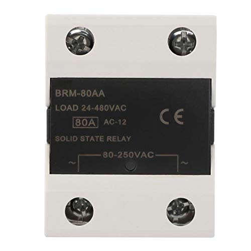 Módulo de relé de estado sólido 24-480VAC SSR Equipos eléctricos Relé monofásico de CA(BRM-80AA)