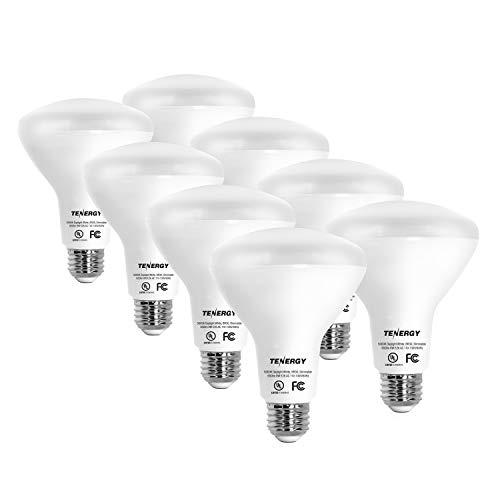 Tenergy Dimmable LED Flood Light Bulbs, 60 Watt Equivalent (8W), Daylight White (5000K), BR30 E26 Medium Standard Base Recessed Light Bulbs for Can Ceiling Light, UL Listed (Pack of 8)