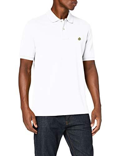 Springfield Herren 8551057t8 Poloshirt, Weiß, M