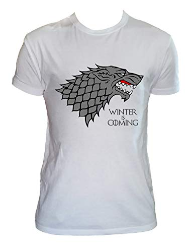 Camiseta Winter is Coming Hombre Niño Stark Juego de Tronos Series TV, Hombre - M