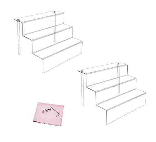 Combination of Life 30.5x21.6x22.2cm acrílico Transparente Expositor con estantes en 3 Niveles
