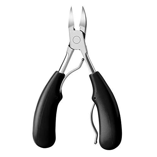 Kapian Nagelzange Kopfschneider Nagelschere aus Edelstahl für Dicke und Durch Pilzbefall Eingewachsene Fußnägel und Fingernägel,Präzision Fußnagel Knipser Metall Nagelzange