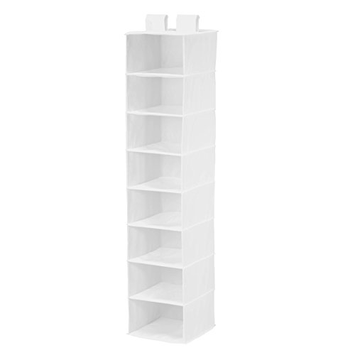Honey-Can-Do SFT-01239 8 Shelf Hanging Organizer, Polyester, wh, White