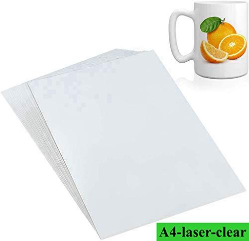 100 stks/pack Clear Water Decal Papier voor Laser Printers Water Transfer Papier Gebruikt voor zeep Kaars Glas DIY Decoratie