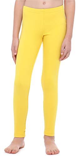 Merry Style Leggings Mallas Largas Niña MS10-252 (Amarillo, 128 cm)