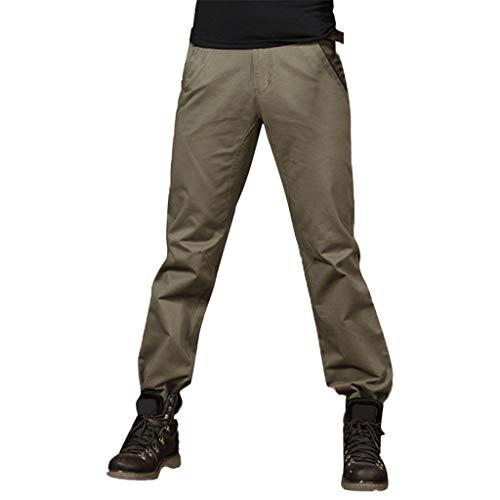 SHE.White heren katoenen cargobroek lang recht fit broek broek vrijetijdsbroek regular fit legering militair meerkleurig cargobroek comfortabele werkbroek tactische broek recht 30 EU groen (army green)