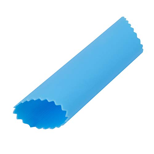 Garlic Peeler Silicone Tube Roller to peel Garlic Cloves keep your Hands away from Smell Blue