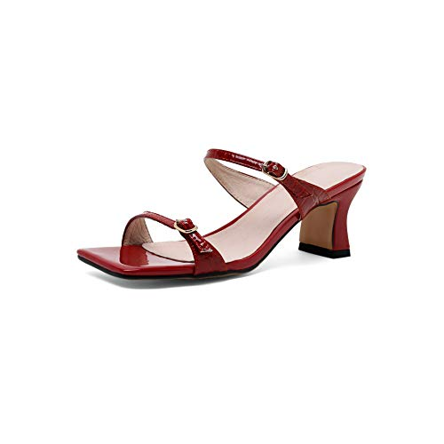 MOCORALS Red Matte Bed STU Sandals for Women 7.5 Size 5