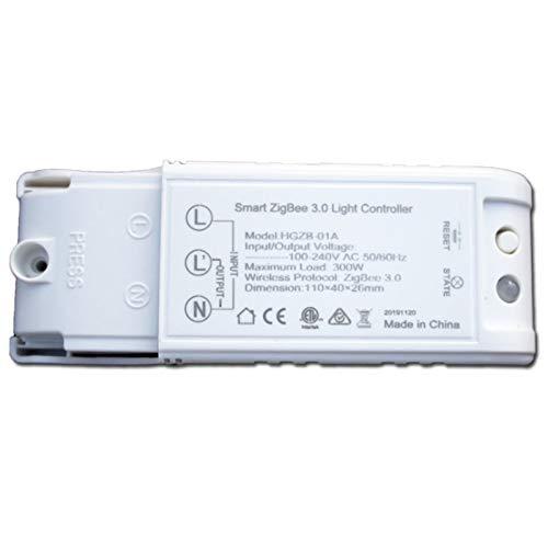 TOOGOO Controlador de Luz Inteligente ZigBee 3.0 Interruptor Modificado para el Hogar Inteligente DIY Compatible con Echo Alexa Lightify Zigbee Gateway
