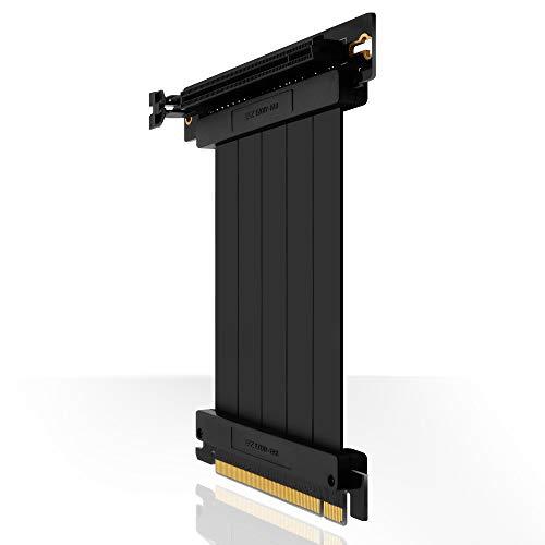 EZDIY-FAB PCIE 3.0 16x Extreme High Speed Riser Kabel PCI Express Port GPU Erweiterungskarte-Rechtwinkliger Stecker-20cm