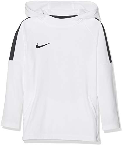Nike Jungen Dry Academy18 Football Hoodie Pullover,Weiß (white/black/white/(black), L