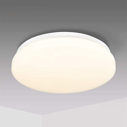 Deckenleuchte LED Deckenlampe 18W Warmes Licht IP44 Deckenleuchte für Küche Bad Schlafzimmer Balkon Korridor Büro Ess 1500LM Ø28cm 4500K