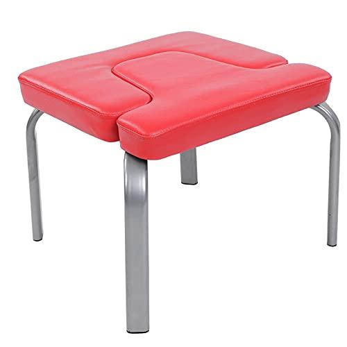 Headstand Chair, Yoga Chair Head Stand Taburete Silla Banco Banco de inversión Headstander Fitness Kit Rojo