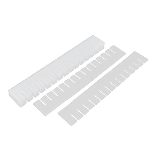 Plastic DIY Grid Drawer Divider Household Organizer 9 Pcs Off White