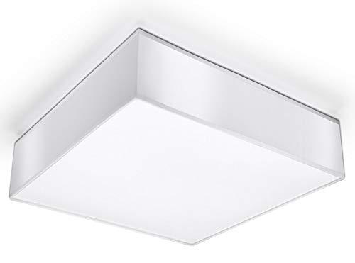 Sollux Horus 35 SL.0138 Plafonnier carré moderne 2 ampoules LED E-27 Blanc