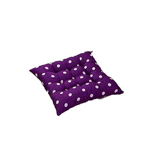 JONJUMP Cuscino per sedia con cravatta a pois viola scuro per sala da pranzo, giardino, cucina, ufficio